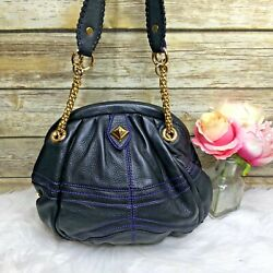 Or By Oryany Anthropologie Black Leather Chain Strap Purse Shoulder Bag Hobo