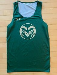 Colorado State Under Armour Practice Jersey Tank Ncaa Track Sz M Adult