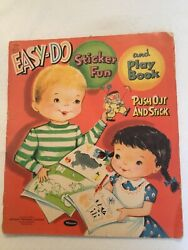 Vintage Sticker Book 1959 Whitman Easy Do Fun And Play Book