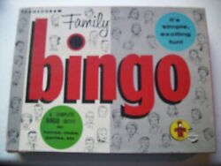 Vintage Family Bingo 1956 Transogram Toys And Games Board Game Game Night