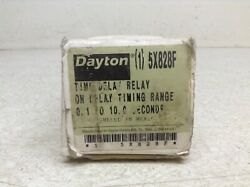 Dayton 5x828f Solid State Time On Delay Relay Interval .1-10 Sec New Tb