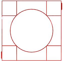 Concrete Mold With 8 Grids And Circle In The Middle, Concrete Forms, Walkways