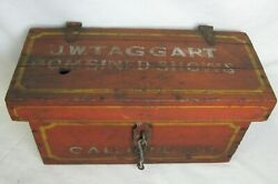 Antique Circus Calliope Tool Box J. W. Taggart Combined Shows