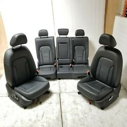 2013-2017 Audi Q5 S-line Black Leather Front Rear Seat Assembly Complete Kit Oem