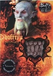 Buffy The Vampire Slayer Big Bads Pieceworks Costume Card Pw3 For Andy Umberger