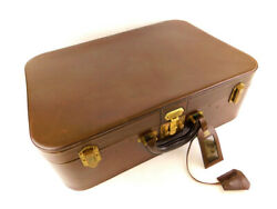 Hermes leather trunk case key & suitcase travel bag Brown Brown leather (1442