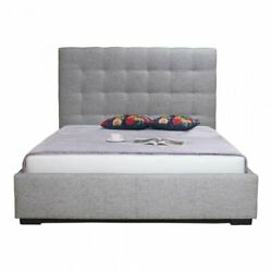 Moeand039s Home Belle Upholstered Queen Storage Bed In Light Gray