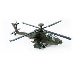 1 72 Metal Apache Attack Helicopter Gift Static Airplane Scale Model Assembled