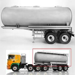 Lesu 20ft Metal Oil Tank Truck Gas-tanker Semi Trailer 1/14 Rc Tractor Model