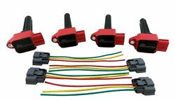 4 Pack Ignition Coils For 08+ Lancer Evolution X Evo 10 Ralliart Mivec 2.0 Cz4a