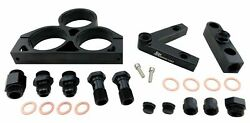 Twin 60mm Inlet Outlet Manifold Fuel Pump Mount Bracket 58mm Filter An Fittings