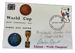 Gordan Banks - England 1966 - Signed Englands Number One Fdc - One Of A Kind