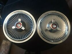 2 Vintage 1960's 65 Ford Mercury 15 Spinner Hubcaps C5ma-1130