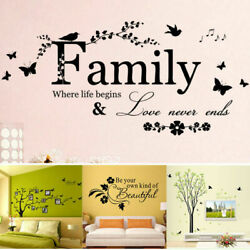 Simple Family Tree Wall Decal Sticker Large Vinyl Photo Picture Frame Room Decor