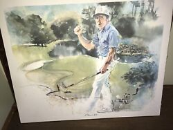 Gary Player Golf Painting © 1989 A Classic In Sports By Ann Manry Kenyon