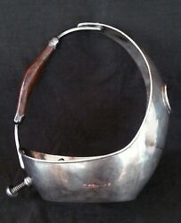 Exquisite Vintage Italian Sailboat Shaped Silver Wine Bottle Holder 47.1 Silver