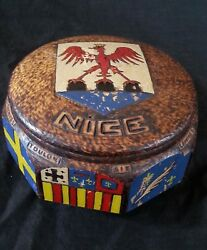 Antique French Hand Carved Wooden Box Nice With Hand Carved Coat Of Arms