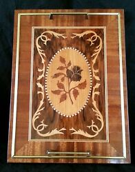Exquisite Vintage Sorrento Italy Inlay Wood Serving Tray