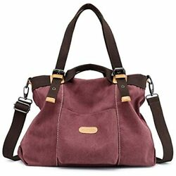 Chikencall Women Hobo Handbags Canvas Casual Vintage Shoulder Daily Purse Ladies $62.92