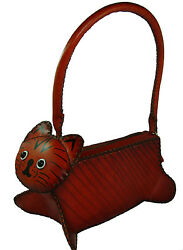 A Lovely Kitty Shape Genuine Leather Handbag Unique design and Well Hand-Made  $53.99