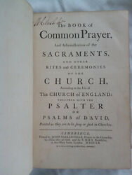 The Book Of Common Prayer First Baskerville Edition Antique Collectable