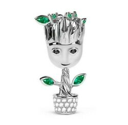 GNOCE GUARDIANS OF THE GALAXY GROOT INSPIRED 925 STERLING SILVER DANGLE CHARM