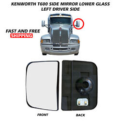 Kenworth T600 T660 T800 Mirror Glass Lower Small Heated Left Driver 2008-2016
