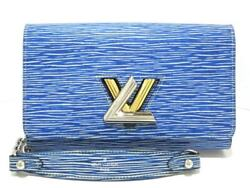 Auth LOUIS VUITTON Portefeiulle Twist Chain M61036 Blue Epi Other Style Wallet