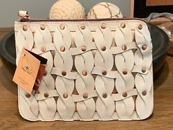 Weekend Sale Nwt Patricia Nash Woven Cassini Leather Wristlet- Twisted Braid