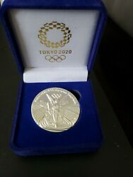 2020 Tokyo Japan Olympic Silver Commemorative Medallion Medal Coin Rare