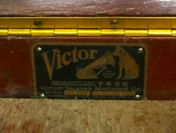 Victrolla Victor Talking Machine Tourne Disque Meuble Phonogramme Antiquite