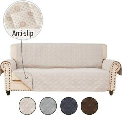 Rhf Anti-slip Sofa Cover For Leather Sofa, Couch Cover, Couch Covers For 3 Cushi
