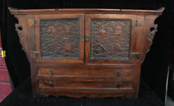 25 Old Chinese Huanghuali Wood 8 Auspicious Drawer Locker Cabinet Table Statue