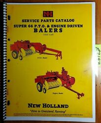 New Holland S66 Super 66 Pto And Engine Driven Baler Service Parts Catalog Manual