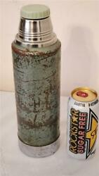 Vintage Stanley Vacuum Bottle No. 100 Old Chrome Large 13 Tall Coffee Thermos