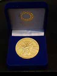 2020 Tokyo Japan Olympic 24k Gold Clad Commemorative Medallion Medal Coin Rare