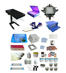 Newest Full Set 4-1 Color Screen Printing Kit Multicolor Printing For T-shirt Us