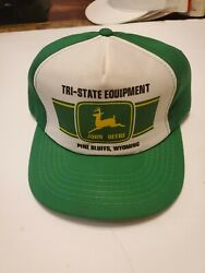 John Deere Snapback Hat Black Tri State Equipment Hit Wear Cotton Adjustable $96.50