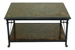 F49396ec Maitland Smith Regency Style Iron And Bronze Base Coffee Table