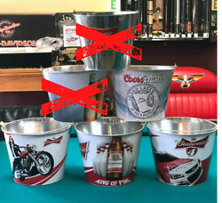 New Coors Or Budweiser Ice Bucket Pail Beer Holder Man Cave