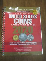 2020 Whitman Official Red Book Of Us Coins- 73rd Edition - Lg Print Spiral New