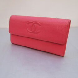 CHANEL (Chanel) caviar skin covered Purse color: pink [148-200304-03OS] (3842