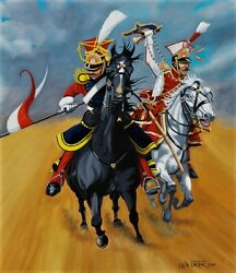 Napoleonic War 65cms X 56 Cms Original Oil Painting By Colin Carter