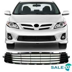 For 2011 2012 2013 Toyota Corolla Front Bumper Lower Grill Matte Black Grille