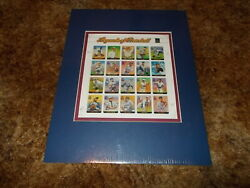 United States Stampsunique Collectibles1st Day Coverssheetsbaseball Matted