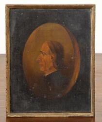 Old Master Antique Museum Acquired 15th, 16th C Oil On Wood Portrait Painting