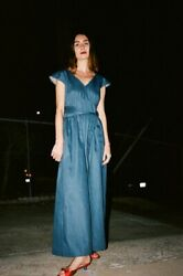 No 6 Store Diana Wrap Jumpsuit Denim Size 3/large. New With Tags.