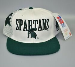 Michigan State Spartans Vintage Sports Specialties Laser Snapback Cap Hat - Nwt