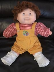 14quot; VINTAGE 1984 FRUIT KIDS HIP YICK BOY BROWN HAIR DOLL t4