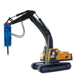 New Remote Control Hydraulic Excavator Toy Model Metal Breaker Sets Fast Ship